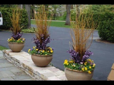 YouTube & Winter Flower Pots - Flowers Ideas
