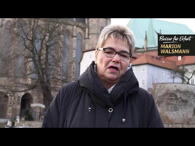 Gisela Schuchardt unterstützt Marion Walsmann als OB-Kandidatin für Erfurt
