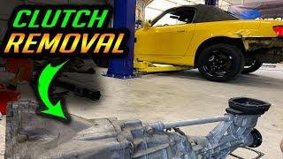 Rebuilding a Salvage Honda s2000 - Transmission Removal - Part 3