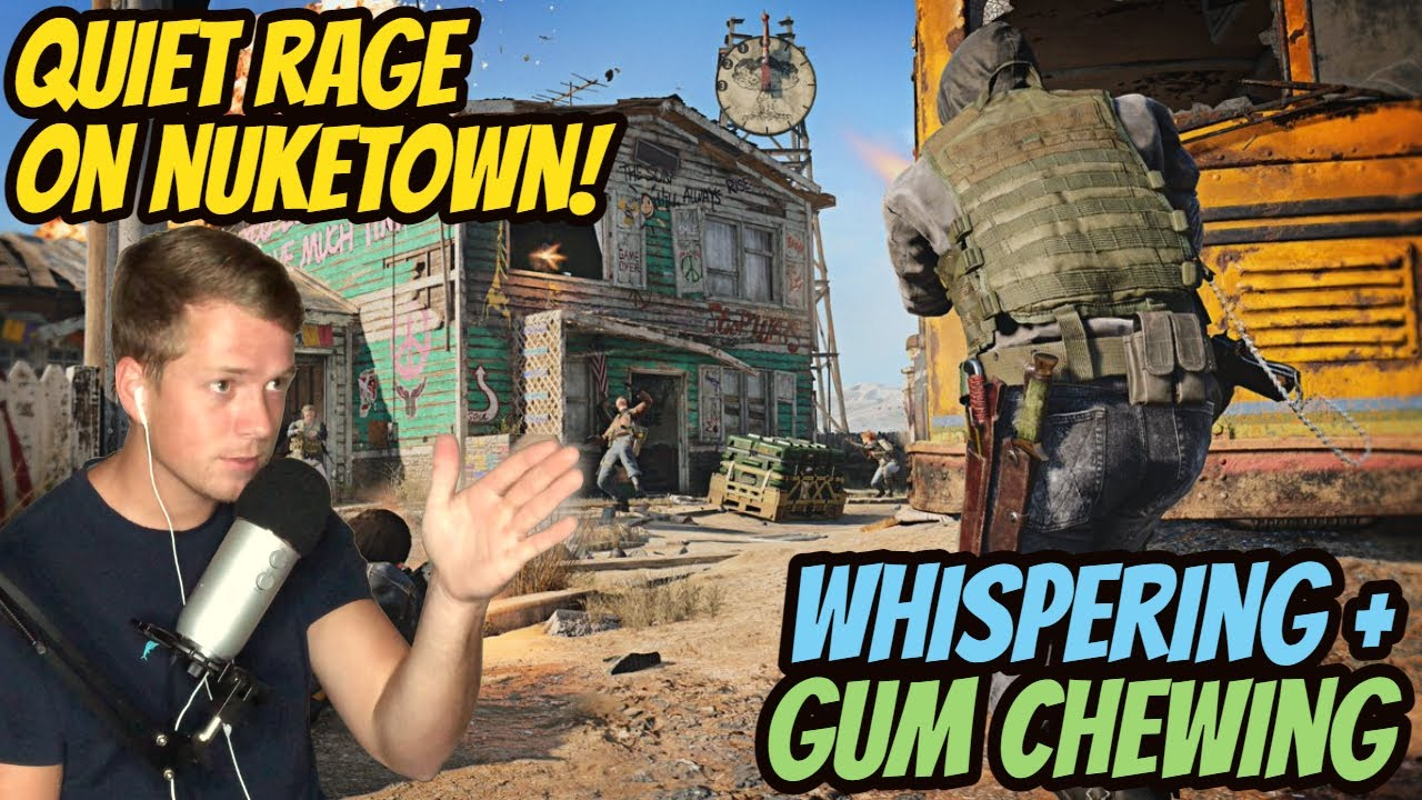ASMR Gaming: Black Ops Cold War | Quiet Rage On Nuketown! - Gum Chewing & Whispering