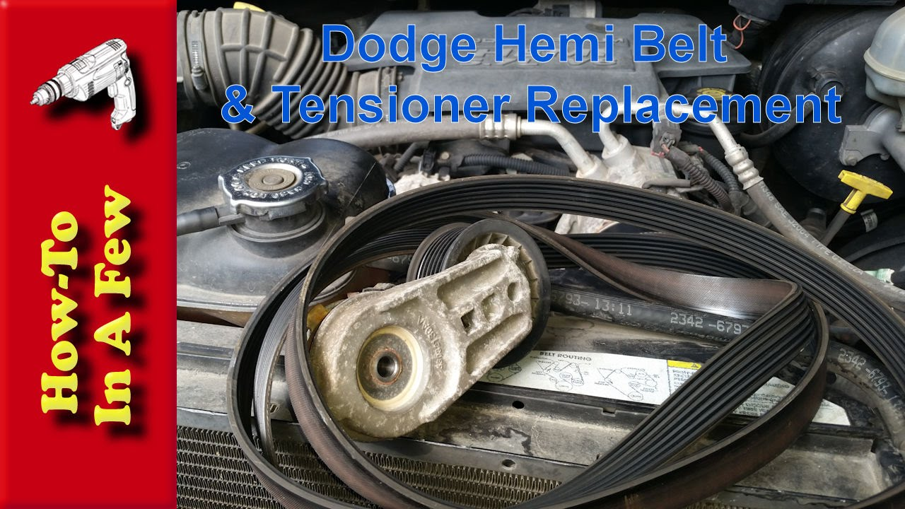 Howto Change The Belt And Tensioner On A Dodge Hemi Youtube