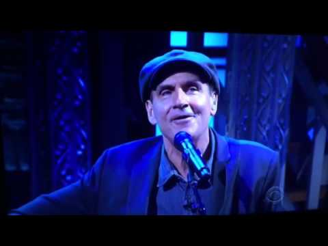 James Taylor's Tribute to France on Colbert