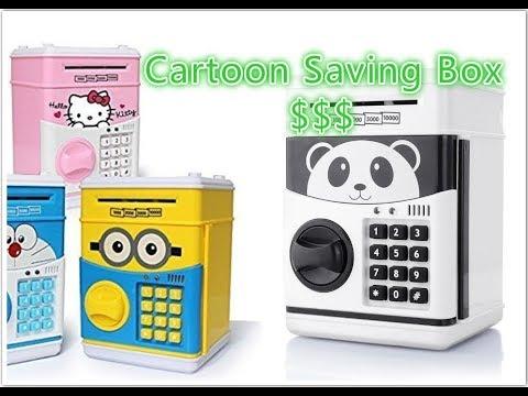 Cartoon Saving Box - Panda Piggy Bank Cash Box