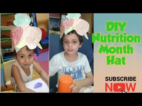 DIY Nutrition Month Hat  Fruit and Vegetables Headress