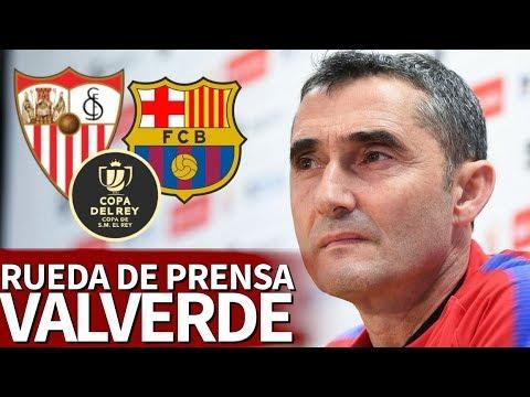 Sevilla-Barcelona   Rueda de prensa de Valverde a la Final de Copa del Rey   Diario AS