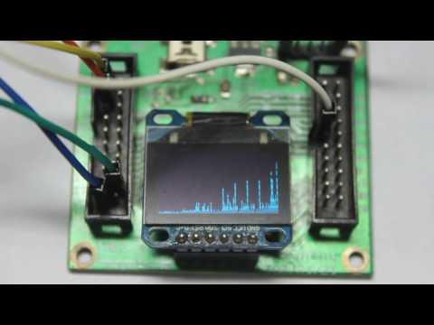 FFT Sound EQ STM32F103C8T6 SSD1963 OLED LCD - YouTube