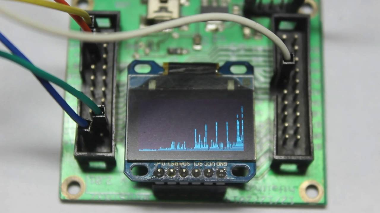 FFT Sound EQ STM32F103C8T6 SSD1963 OLED LCD