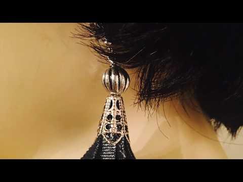 DIY DENIM TASSEL EARRINGS