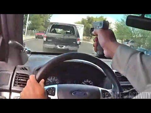 Policjant strzelał do uciekiniera przez szybę własnego auta