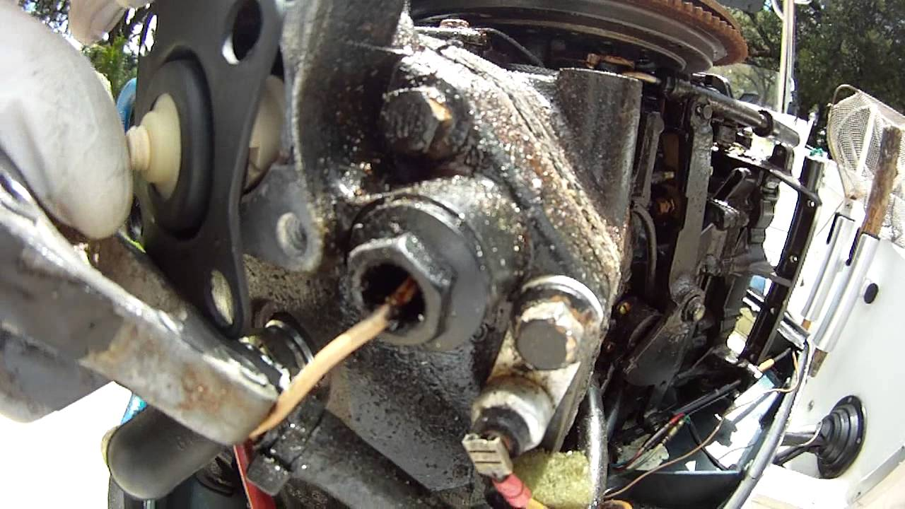 how to replace thermostat on evinrude outboard engine