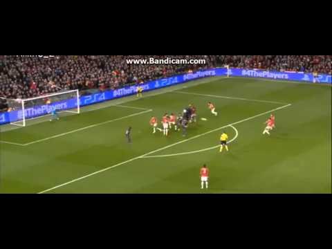 Van Persie Amazing Free Kick Vs Olympiacos Manchester United 3   0 Olympiacos 19 03 2014