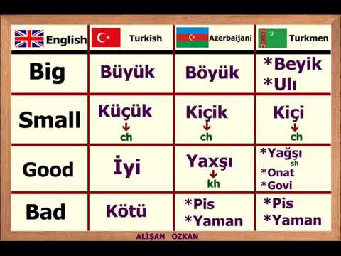Learn Turkic Languages-Turkish Azerbaijani Kazakh Uzbek Turk