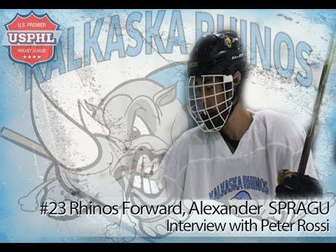 08.29.2015 Rhinos Forward #23 Alexander Sprague interview with Peter Rossi