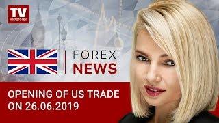 InstaForex tv news: 26.06.2019: US economy still signals weakness (USD, CAD)