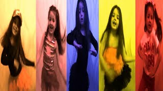 Маша танцует под веселую музыку в разных стилях