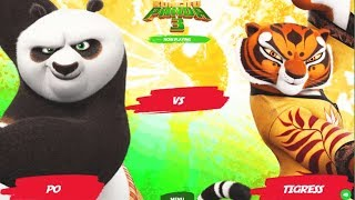 Colorful Game – KUNGFU PANDA–PO VS TIGERESS, VIPER, SHIFU & Other Friends, Funny Color Game for Kids