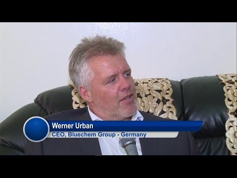 bluechemGROUP CEO Werner Urban in The Gambia television