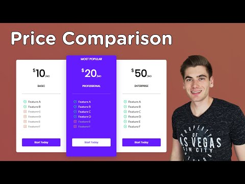Build A Price Comparison Page With HTML And CSS