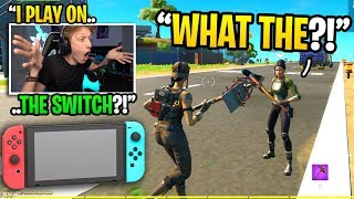 I SHOCKED my random duos when I told them I play Fortnite on the NINTENDO SWITCH... (amazing)