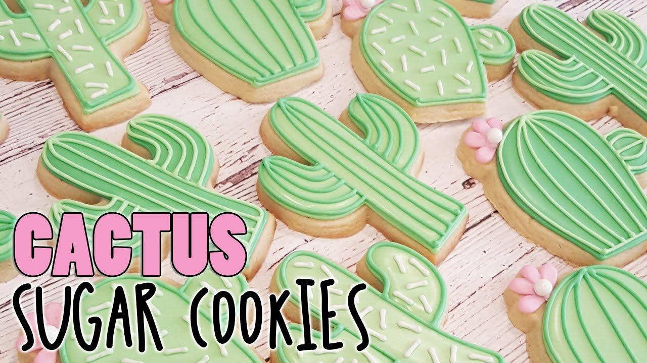 Southwest cactus sugar cookies