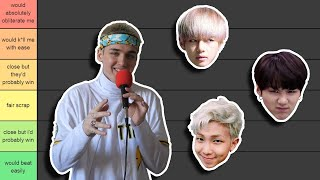 Baixar ranking bts members i could beat in a fight