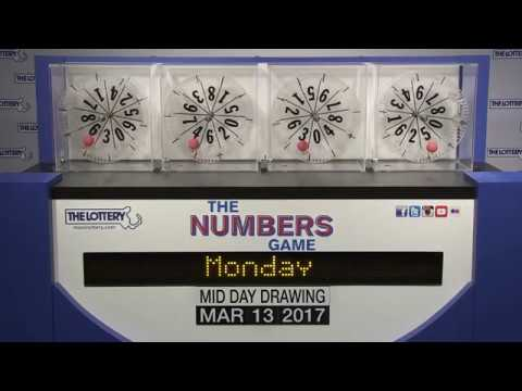 Midday Numbers Game Drawing: Monday, March 13, 2017