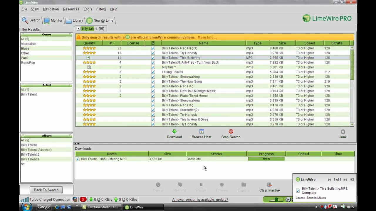 limewire pro free download for windows 7