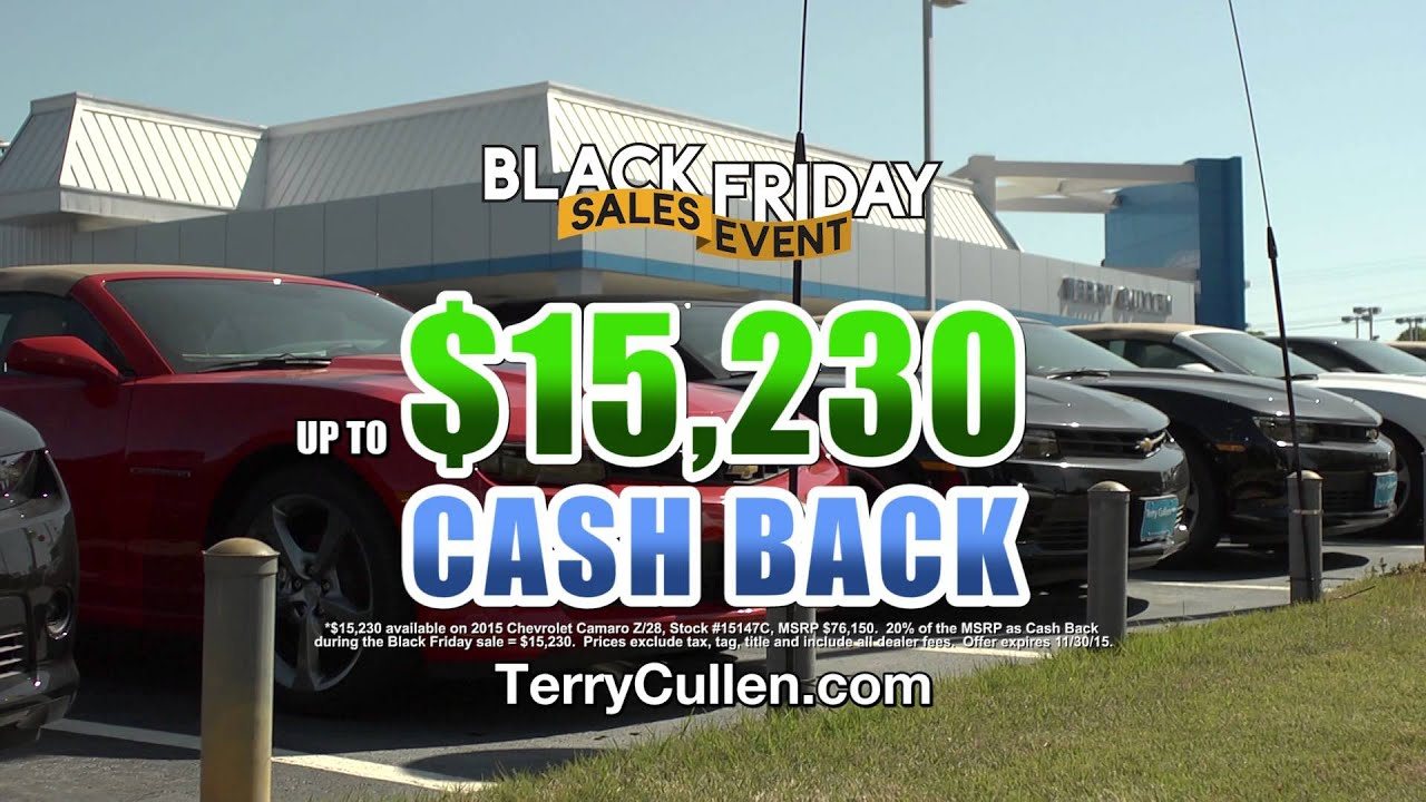 terry cullen chevrolet celebrating black friday all month long at the big t in jonesboro. Black Bedroom Furniture Sets. Home Design Ideas