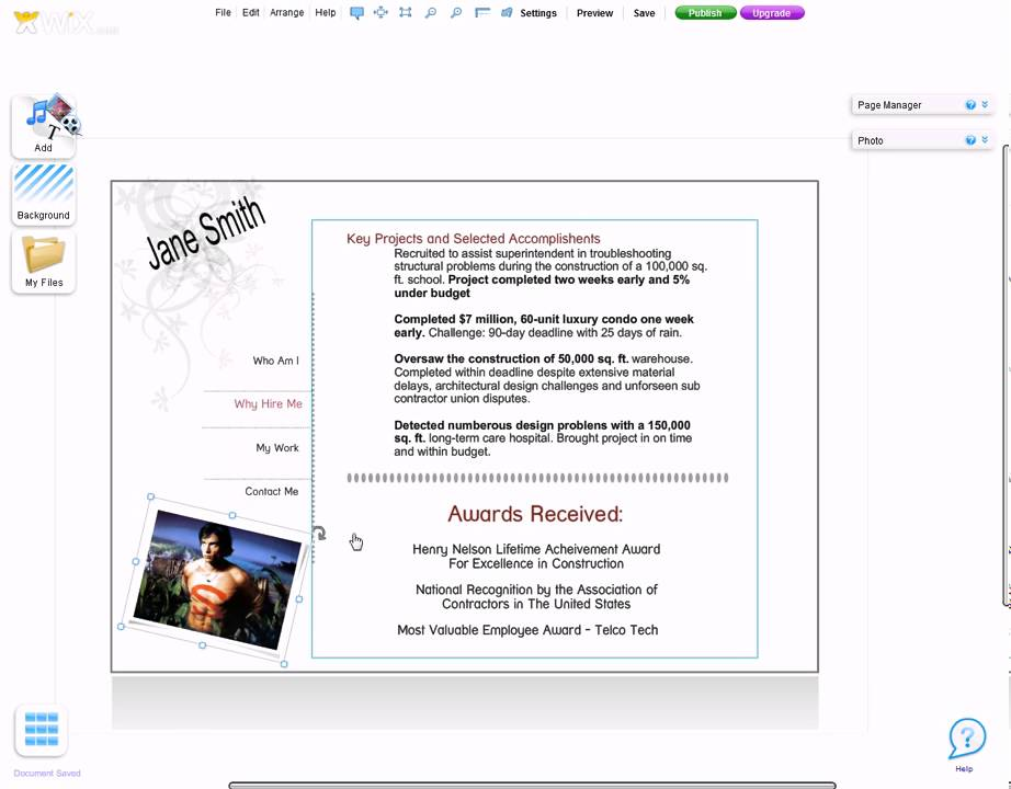 how to use wix to create a resume website - from resumewebsite org