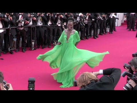 Oscar Winner Lupita Amondi Nyong'o at the opening ceremony of the Cannes Film Festival 2015