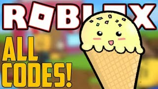 ALL 86 ICE CREAM SIMULATOR CODES! (October 2019) | ROBLOX