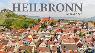 Heilbronn Germany city aerial drone 4K by Smakadron