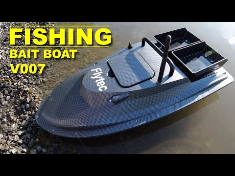 Do You Fish This Rc Boat Will Take Your Line Far Out And Drop Bait Flytec V007 Rc Bait Boat Youtube