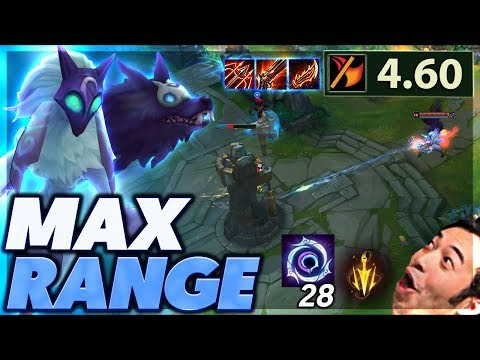 LONGEST ATTACK RANGE IN THE GAME  I OUTRANGE TOWERS  MAX RANGE KINDRED  BunnyFuFuu