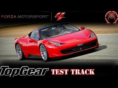forza 4: ferrari 458 italia v.s ferrari f430 f1: top gear test