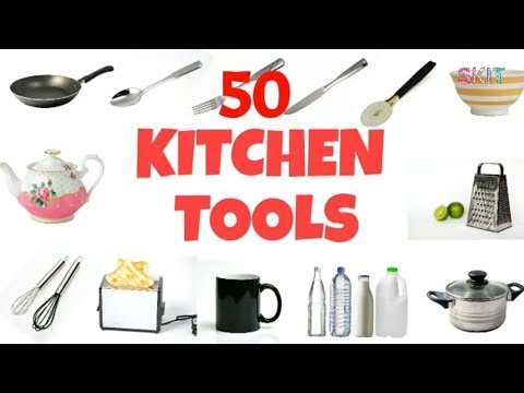 50 Kitchen Tool Names In English # Terms # Items # Things