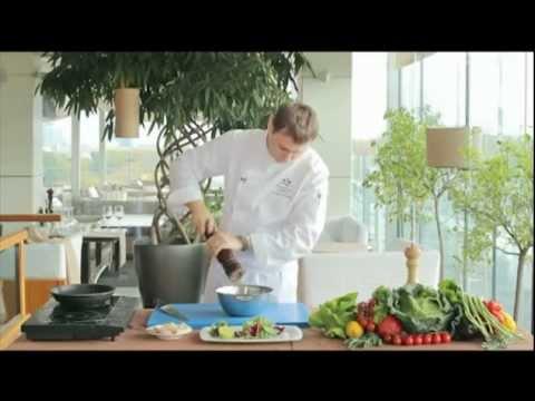 Рецепт Сырные корзинки с салатом из морепродуктов