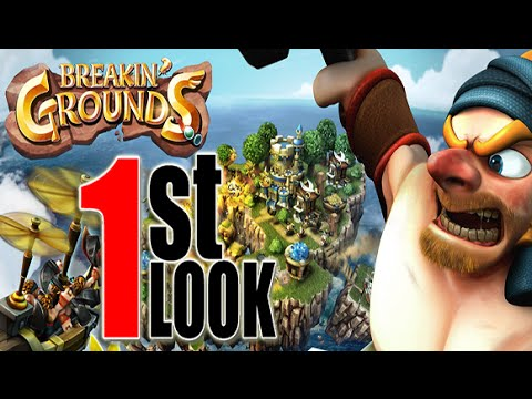 Breakin Grounds - 1st Look Gameplay (iOS /Android Strategy Game)