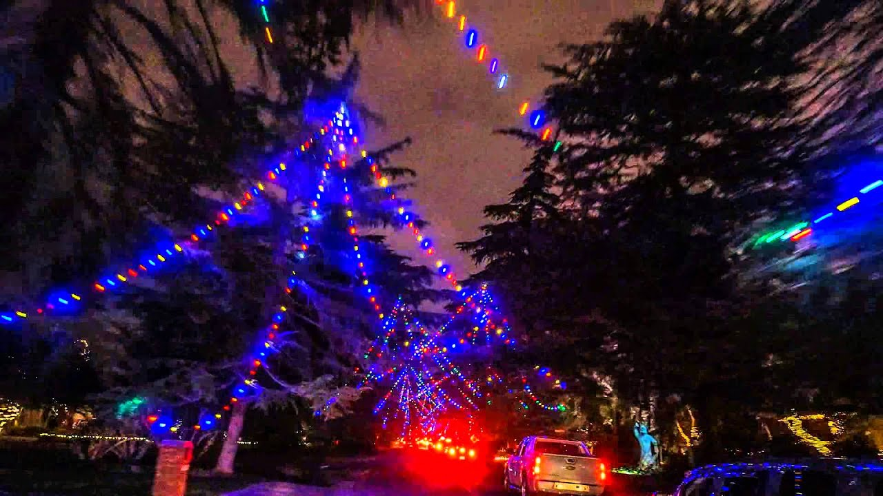 christmas tree lane in fresno california 2014 youtube