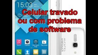 Atualizar celular da Alcatel, travado ou com problema de software