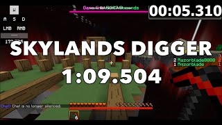 Minecraft Dragon Escape - Skylands Digger Speedrun in 1:09.504