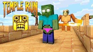 Monster School : TEMPLE RUN CHALLENGE - Minecraft Animation