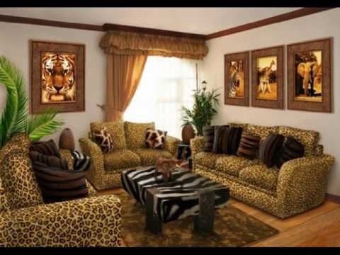 Animal Print Living Room Home Design Ideas