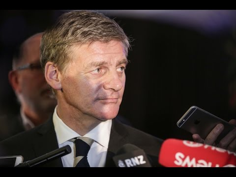 Bill English stand up at Premier House