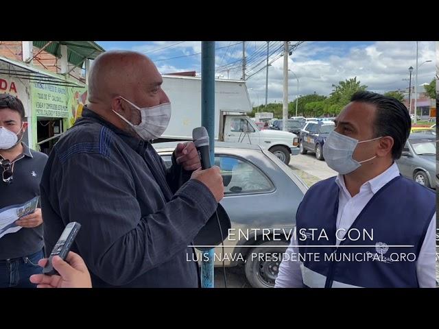Entrevista banquetera con el Presidente Municipal de Querétaro Luis Nava