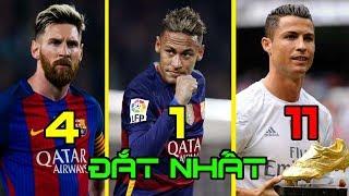 Top 20 cầu thủ nổi tiếng có giá trị chuyển nhượng cao nhất thế giới. Neymar đắt nhất thế giới.