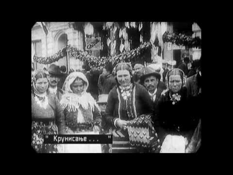Sep 1904 - Scenes in Downtown Belgrade (speed corrected w/ added sound)
