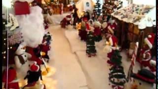 Private Weihnachtsdekoration auf einer Farm in Miami
