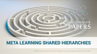 Meta Learning Shared Hierarchies | Two Minute Papers #210