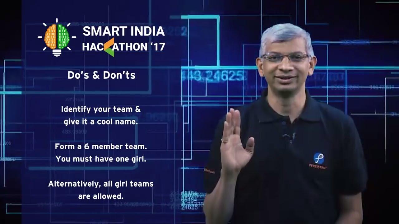 Dos & Don'ts of Smart India Hackathon 2017